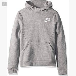 Nike Sportswear Club Pullover Hoodie Gray- XL